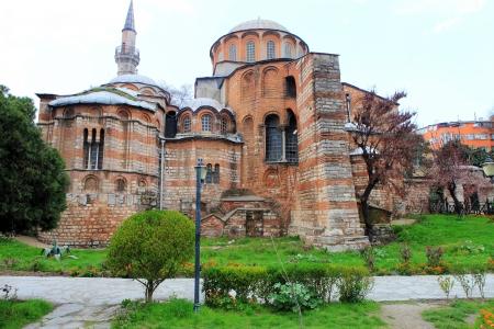 chora: Exterior view of Chora Church  Kariye Museum  in Istanbul, Turkey  Stock Photo