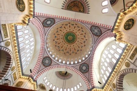 suleymaniye: Interior view of Suleymaniye Mosque Editorial