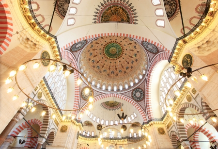 Interior view of Suleymaniye Mosque