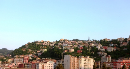 General view of Zonguldak City in Turkey  photo