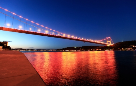 Fatih Sultan Mehmet Bridge in Istanbul, Turkey. photo