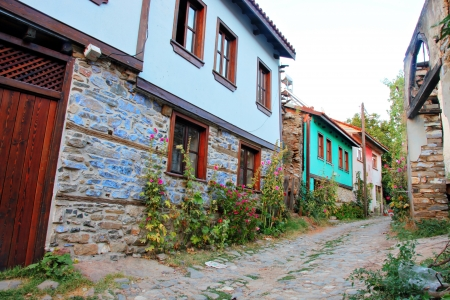 Old Houses in Cumalikizik Village in Bursa, Turkey   photo