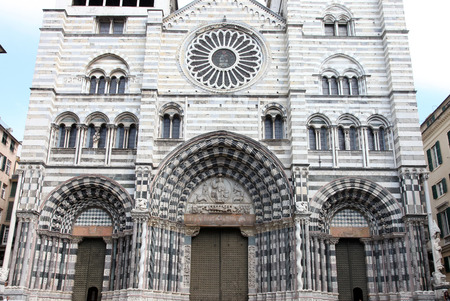 cattedrale: Cathedral aka Duomo di Genova or Cattedrale di San Lorenzo Stock Photo