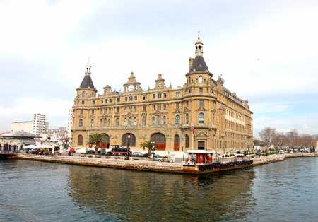 haydarpasa: Haydarpasa Train Station in Istanbul, Turkey. Editorial
