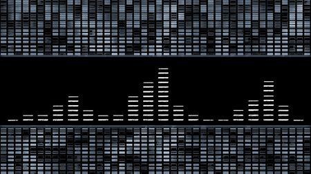 graphic equalizer: Music equalizer on silver style. Stock Photo