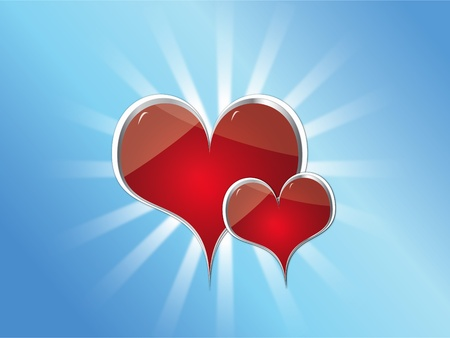 sweety: illustration of Valentines hearts  Stock Photo