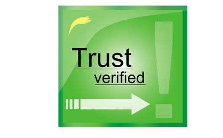 Illustration of firewall green trust mark  illustration