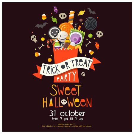 Trick or Treat Halloween Poster Ilustracja