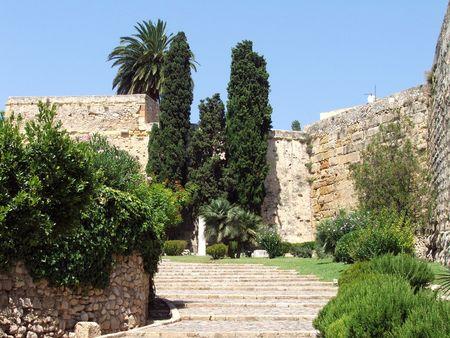 Walls of Tarragona built by Ancient Roman