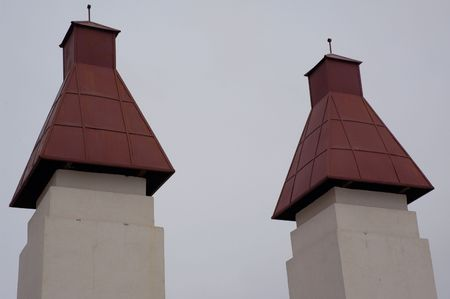 Two turrets of the town park gates
