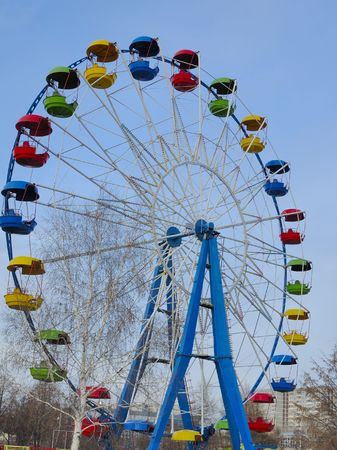 Photo of big Ferris Wheel in the city park