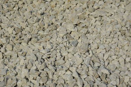 Crushed stone background. Gray granite Stock Photo - 3428607
