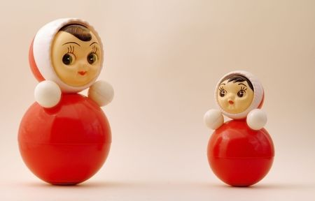 tilting: Photo of two nice plastic tilting dolls (tumblers)