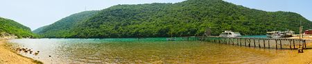 Panoramic view on Limskyi bay. Istria