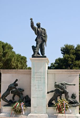 Front view on the Memarial of fighters against fascism in Pula, Croatia