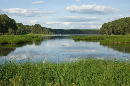 View on a small lake in the Niddle Russia