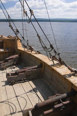 Photo of ship set at the deck of old sailing ship Stock Photo - 3988294