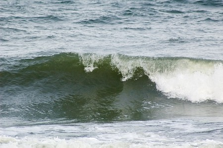 Photo of Baltic sea surf during storm Stock Photo