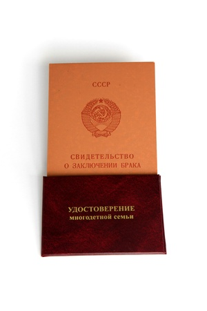 marriage certificate: Marriage certificate and ID large family