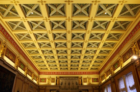 hermitage: Ceiling at the Hermitage  St  Petersburg, Russia