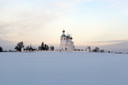Church of Elijah the Prophet, winter evening  City Kadnikov, Vologda region, Russia Stock Photo - 17292339