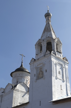 assumption: Bell Tower and the Church of the Assumption of Holy Prilutsky Monastery, Vologda, Russia