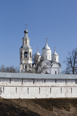 spassky: Wall Holy Prilutsk Spassky monastery and cathedral, Vologda, Russia