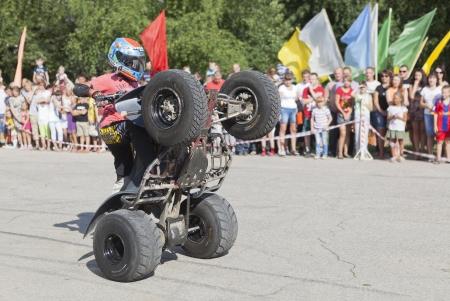 Riding on the rear wheels ATV  Thomas Kalinin