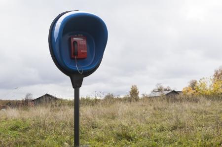 penetracion: La penetraci�n telef�nica del tel�fono Coin pa�s en un pueblo remoto