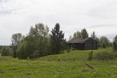 sprawled: Rural landscape with abandoned house
