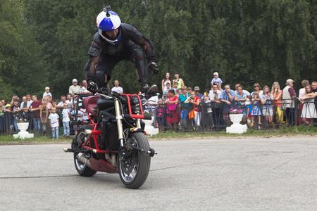 Stunts on a motorcycle by Aleksey Kalinin