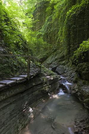 slit: Cool Canyon  Zubova slit Stock Photo