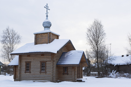 our lady of sorrows: Temple in honor of Our Lady of Sorrows. Village Terebino, Velsky District, Arkhangelsk region, Russia