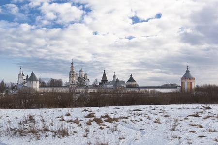 Savior-Prilutskii Monastery in early spring. Vologda, Russia