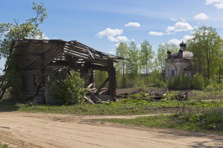sprawled: Hab�a una aldea. Ver aldeas del distrito Zhavoronkova Verhovazhskogo regi�n de Vologda Rusia