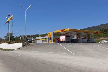 sukhumi: Filling station Rosneft on Sukhumi highway in city of Gelendzhik, Krasnodar region, Russia