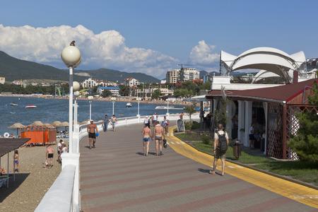 alpine zone: Embankment resort city Gelendzhik, Krasnodar region, Russia Editorial