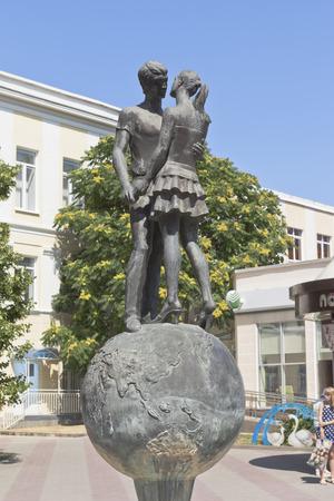 krasnodar region: Sculpture loving couple in wedding palace in the city Gelendzhik, Krasnodar region, Russia