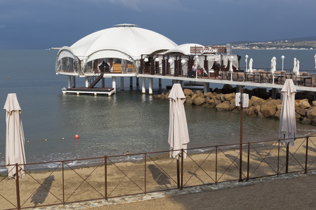 krasnodar region: Cafe Sea zone in Gelendzhik Bay, Krasnodar Region, Russia