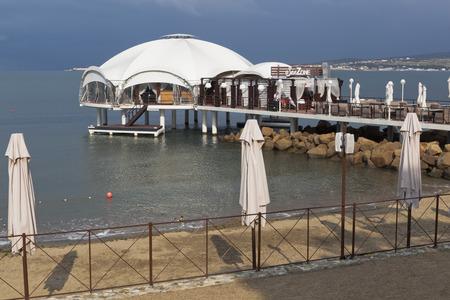 krasnodar region: Cafe Sea zone in Gelendzhik Bay, Krasnodar Region, Russia