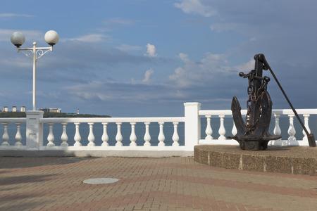 krasnodar: Anchor on promenade of resort Gelendzhik, Krasnodar Region, Russia Stock Photo