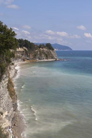 krasnodar region: Steep coast at resort city Gelendzhik, Krasnodar region, Russia