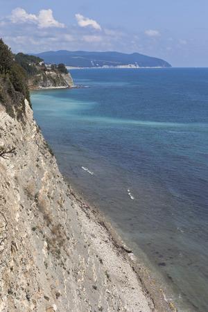 krasnodar region: Rocky steep coast Cape Tolstoy in the resort Gelendzhik, Krasnodar Region, Russia