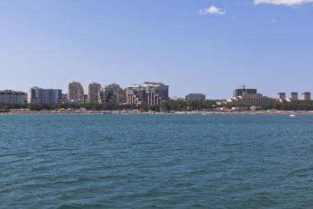 krasnodar region: Waterfront Cape Tolstoy from mid of the bay Gelendzhik, Krasnodar region, Russia