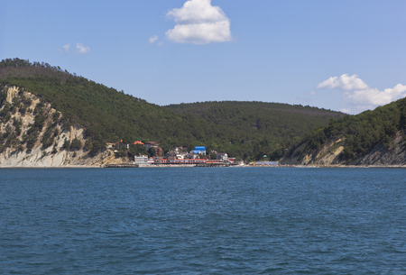bowery: Resort settlement Dzhanhot on the Black Sea coast in district of Gelendzhik, Krasnodar region, Russia