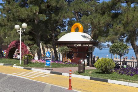 krasnodar region: Donut shop Baron Pont on the waterfront resort Gelendzhik, Krasnodar region, Russia