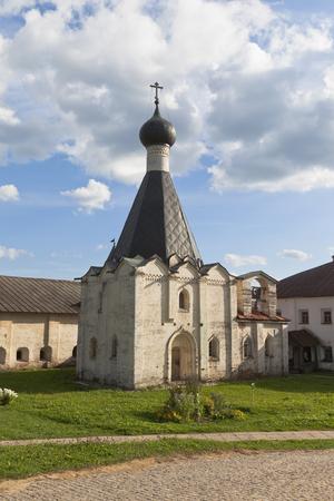 theological: Hospital Church Euphemia of the Grand in Kirillo-Belozersky Monastery, Vologda region, Russia Stock Photo