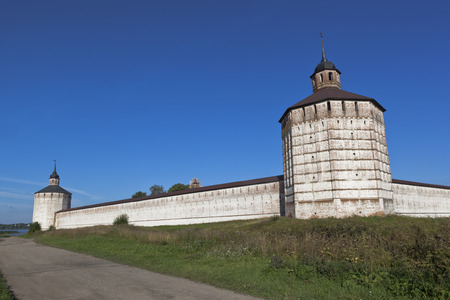 embrasure: Vologda and Blacksmith towers of Kirillo-Belozersky Monastery in Vologda region, Russia