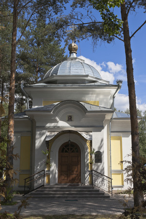 Entrance to the chapel of St. Gerasimos of the Vologda in city Vologda, Russia