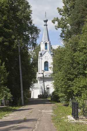 gorbachev: Righteous of Lazar Church on Gorbachevs Cemetery in the city of Vologda, Russia Stock Photo